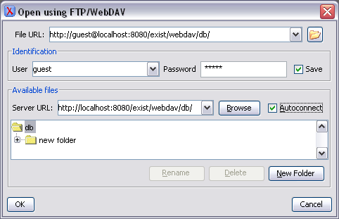Using WebDAV to Access the Database